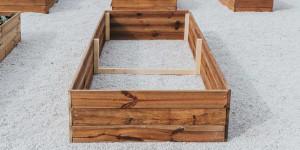 Ξύλινο πλαίσιο για δημιουργία υπερυψωμένου παρτεριού
